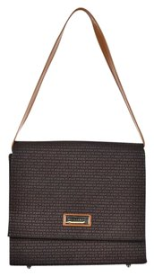 Ted Lapidus Womens Textured Leather Handbag Shoulder Bag