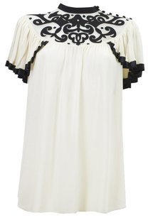 Temperley London Top Cream/Black