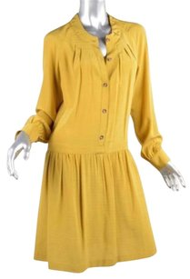 Thakoon short dress Gold Womens Yellow Silk Woven Drop Waist Shift on Tradesy
