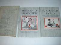 The Adopted Family Illustrated Book Set Antique Vintage 1951 1965