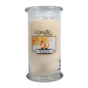 The Candle Factory Large 15-ounce Jar Crackling Candle Wedding Day