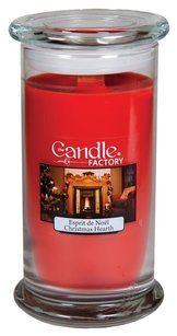 The Candle Factory The Candle Factory Large 15-ounce Jar Crackling Candle, Christmas Hearth