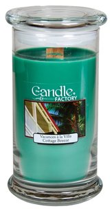 The Candle Factory The Candle Factory Large 15-ounce Jar Crackling Candle, Cottage Breeze