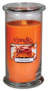 The Candle Factory The Candle Factory Large 15-ounce Jar Crackling Candle, Crme Brule