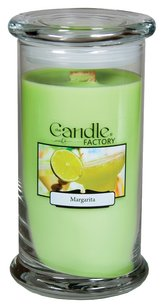 The Candle Factory The Candle Factory Large 15-ounce Jar Crackling Candle, Margarita