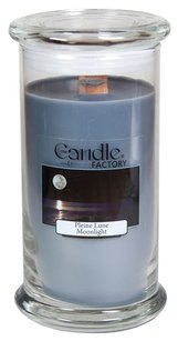 The Candle Factory The Candle Factory Large 15-ounce Jar Crackling Candle, Moonlight