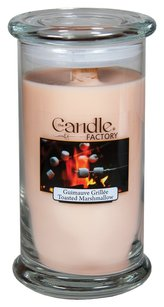 The Candle Factory The Candle Factory Large 15-ounce Jar Crackling Candle, Toasted Marshmallow