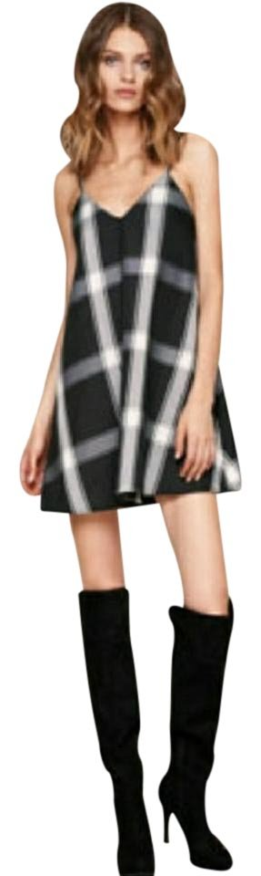 The Jetset Diaries Black and White Karma Swing Short Night Out Dress ...