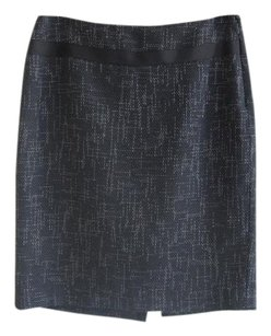The Limited Pencil Textured Wear To Work Skirt Navy Blue
