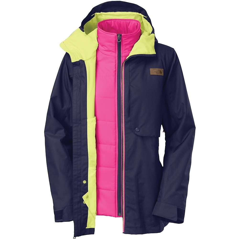 ... amazon the north face triclimate waterproof hyvent blue pink and yellow  jacket 65b48 631a2 eb4679a1c