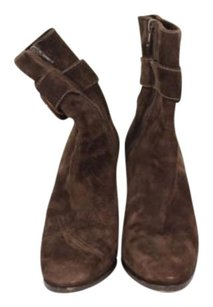 Theory Womens Ankle 388 Suede Leather Heels Brown Boots