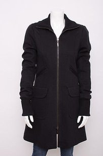 Theory Wool High Collar Coat