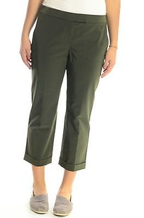 Theory X Olive Stretch Capri/Cropped Pants Green