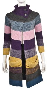 Theory Womens Petite Cardigan Ptp 34 Sleeve Striped Sweater