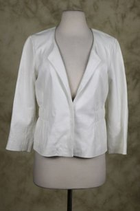 Theory Womens Leather Ivory Jacket