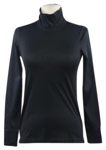 Theory Womens Turtleneck Long Sleeve Cotton Casual Shirt Sweater