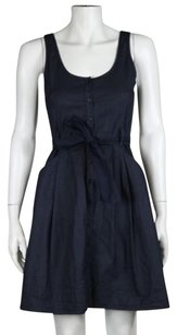 Theory Womens Dark Wash Dress