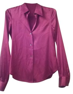 Theory Silk Top Red