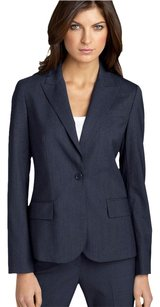 Theory Theory Gabe B Tailor Indigo Navy Blue Stretch Wool Single Button Blazer Jacket