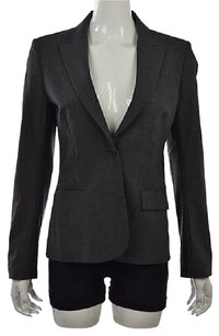 Theory Theory Womens Gray Blazer Speckled Textured Jacket Wtw Wool