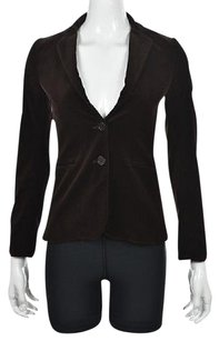 Theory Theory Womens Brown Blazer 0 Velvet Wtw Jacket Cotton Career Textured