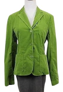 Theory Theory Womens Green Corduroy Blazer Long Sleeve Cotton Basic Jacket