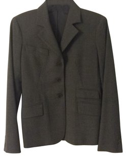 Theory Three-button Pockets Wool gray Blazer