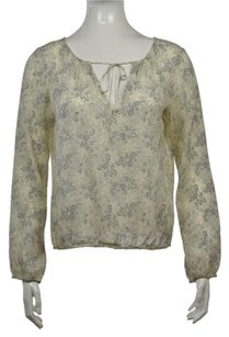 Theory Womens Floral Top Ivory