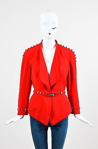 Thierry Mugler Crepe Red Jacket