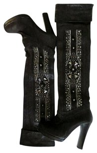 Thomas Wylde Leather Black Silver Boots