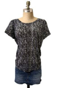 Threads 4 Thought Swirl Print Sheer Burnout Hi Low T Shirt Top Brown