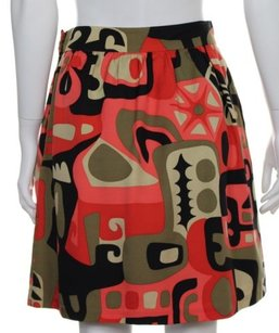 Tibi Womens Black Printed Skirt Multi-Color