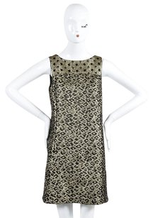 Tibi Leopard Polka Dot Brocade Shift Dress
