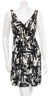 Tibi short dress Black, White Silk Graphic Geometric Bubble on Tradesy