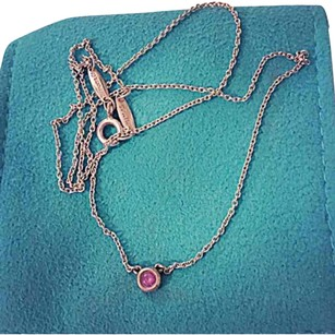Tiffany & Co. Tiffany&Co Elsa Peretti Color By The Yard Pink Sapphire Pendant .18tcw Sterling Silver. BEAUTIFUL!!!
