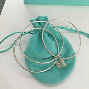 Tiffany & Co. Set Of 3 Thin Bangles with 1837 Lock (opens and closes) POUCH