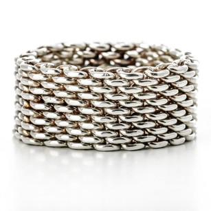 Tiffany & Co. Tiffany & Co. Somerset Ring in Sterling Silver Classic Mesh Band 9