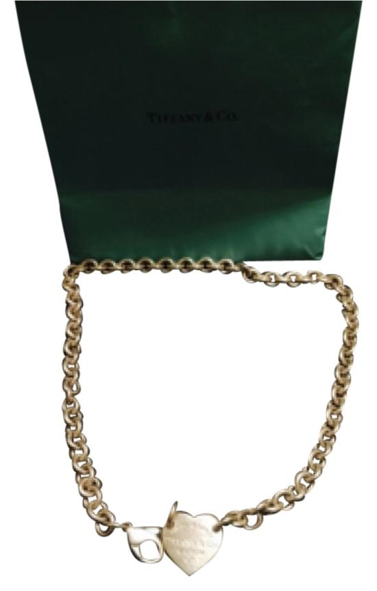 Tiffany & Co. Sterling Silver Return To Tiffany heart pendant choker