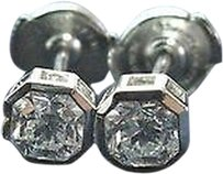 Tiffany & Co. Tiffany,Co,Platinum,Lucida,Diamond,Bezel,Set,Stud,Earrings,1.02ct,F-vvs2