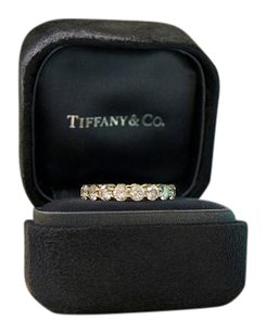 Tiffany & Co. Tiffany & Co. 18k Diamond Shared Setting Band Eternity Ring Size 5