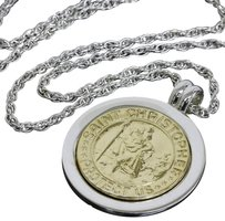 Tiffany & Co. Tiffany & Co 18K Yellow Gold 925 Sterling Silver Coin Necklace