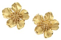 Tiffany & Co. Tiffany & Co 18K Yellow Gold Dogwood Flower Wild Rose Stud Earrings