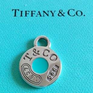 Tiffany & Co. Tiffany & Co. Blue enamel Sterling Silver Round Charm