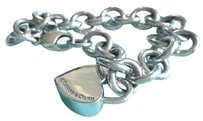 Tiffany & Co. Tiffany & Co I love you Heart Padlock charm Sterling Silver Bracelet