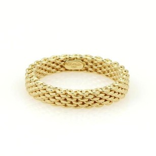 Tiffany & Co. Tiffany Co. Somerset 18k Yellow Gold Mesh Design 3.5mm Bandring 4.75