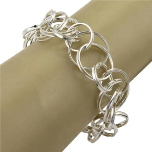 Tiffany & Co. Tiffany Co. Sterling Silver 1837 Double Interlaced Circle Links Bracelet