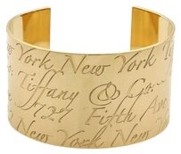 Tiffany & Co. Tiffany Co. Notes 40mm Wide Cuff Band Bracelet In 18k Yellow Gold