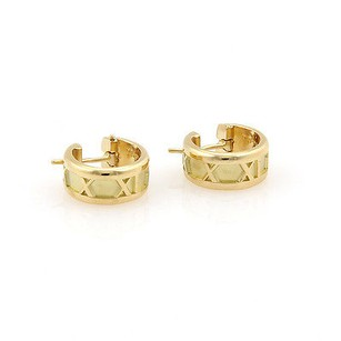 Tiffany & Co. Tiffany Co. Italy 18k Yellow Gold Atlas Hoop Earrings