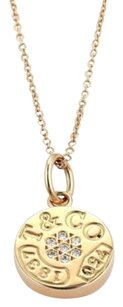 Tiffany & Co. Tiffany Co. 1837 Collection Diamonds 18k Rose Gold Round Pendant Necklace