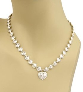 Tiffany & Co. Tiffany Co. Sterling Silver Multi Padlock Hearts Pendant Necklace